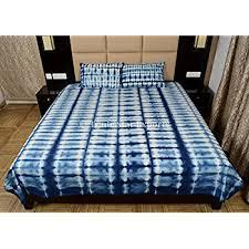 amazon com handmade indigo dyed bedding set shibori bedspread