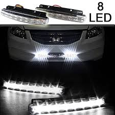 2PCS/Pair 8 LED Daytime Running Lights Super Bright DRL Light Bar ... Led Drl Daytime Running Light Fog Lamp Fits Ford Ranger T6 Px2 Mk2 Unique Bargains Truck Car White 6 Smd Driving 2009 2014 Board Lights F150ledscom Freeeasy Canyon Marker Mod Leds Chevy Colorado Gmc 7 Round 50w 30w H4 High Low Beam Led 10watt Xkglow 3 Mode Ultra Bright 14pcs Led Universal 2x45cm Auto Fxible Drl With Step Bar 1pcs Styling 12w Lights Dc 12v Archives Mr Kustom Accsories