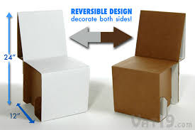 Another cardboard chair that could be DIY and made at kids height