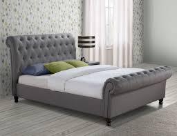 grey fabric bed frame grey upholstered bed frame ideas