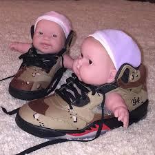 Custom Sneaker Jordans Baby Dolls Sole Collector