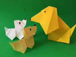 How To Make A Origami Paper Dog With Moving Head Folding Project For Kids