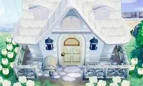 Acnl Wunderschones Haus Von Aussen Mit Weissen Blumen Hach Ich
