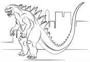 Godzilla And King Kong Coloring Page