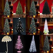 9 Ft Pre Lit Pencil Christmas Tree by Ideas Fiber Optic Christmas Tree Outdoor Artificial Christmas