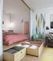 small apartment with great storage in pastel tones decor8