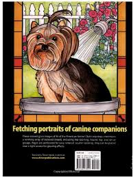 Dogs Stained Glass Coloring Book Dover Nature