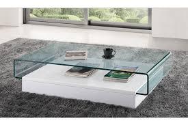 table basse en verre laqué blanc le bois chez vous