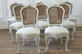 Cane Dining Chairs Antique French Back