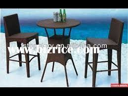 high top patio furniture high top patio table and chairs youtube