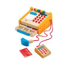 Hape Kitchen Set Australia by Amazon Com Hape Checkout Register Kid U0027s Wooden Pretend Play Set