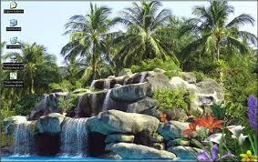 tropic waterfall fond d écran animé télécharger
