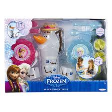 Play Kitchen Sets Walmart by Amazon Com Frozen Olaf U0027s Summer Tea Set Toys U0026 Games