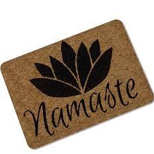 mdct namaste lotus fleur imprimé tapis de sol en caoutchouc en