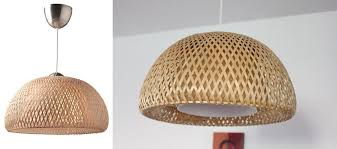 Ikea Pendant Lamp With Boja Rattan Material Also Steel Ceiling Cup