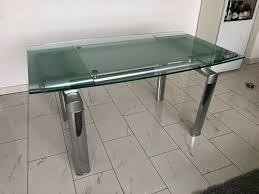 esszimmer glastisch cresto b90cmx150cm ausziehbar auf 220cm