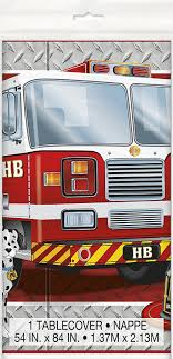 Amazon.com: Fire Truck Birthday Plastic Tablecloth, 84