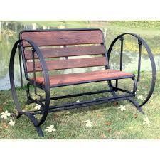 Patio Furniture Loveseat Glider by Outdoor Glider Bench Treenovation