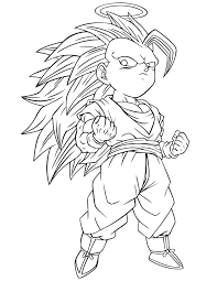 Dragon Ball Z Coloring Pages Super Saiyan 3