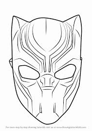 Marvel Black Panther Coloring Pages Best Of How To Draw Mask Drawingtutorials101