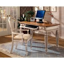 Staples Sauder Edgewater Desk by International Caravan Windsor Roll Top Desk In Antique White