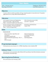 Computer Science Graduate Resume Sample It Professional Student Template School