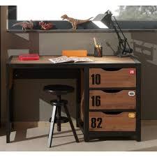 bureau stylé meuble bureau style industriel marron et noir chambre d adolescent