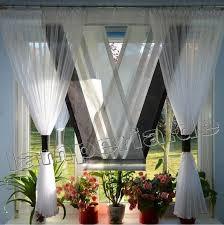 Gardinen Kã Che Fenster 160 Cm Gardine Komplett Dekoration Wohnzimmer Weiß