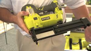 Wood Floor Nailer Gun by 2013 Hardware Show Ryobi P320 Airstrike Cordless 18 Ga Brad