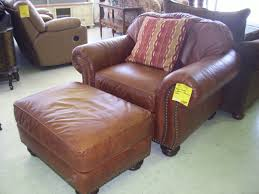furniture brown leather ottomans for vintage living room decor