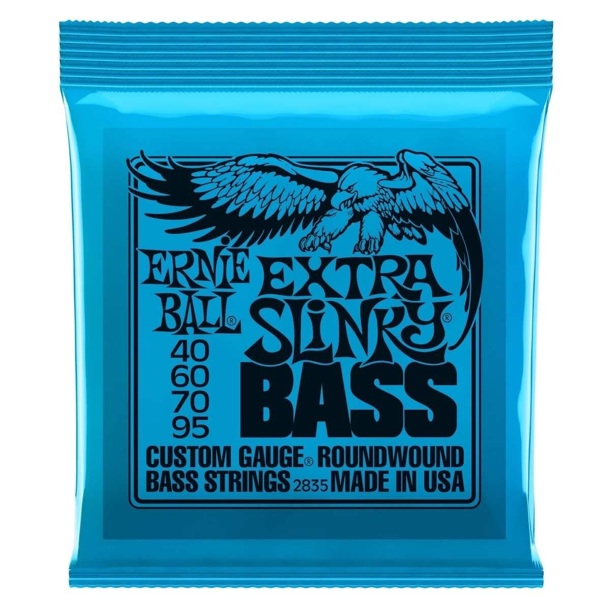 Ernie Ball Nickel Wound Bass Strings - Extra Slinky, 40-95