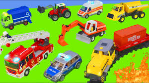 100 Garbage Truck Youtube Fire Excavator Train Police Cars S Tractor