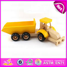 china promotional gift small trailer wooden toy truck for kids