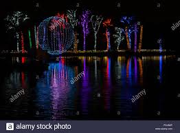 Phoenix Zoo Holiday Light Show Phoenix Arizona Stock Photo