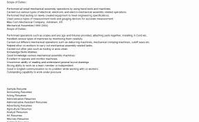 Assembler Resume Examples Medical Assembly Sample For Cute Production