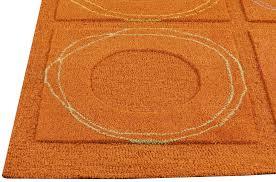 MAT Orange Circa Area Rug Rust