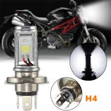 12w h4 motorcycle bulb led light l hi lo beam headlights