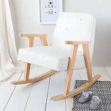 White Star Print Children's Rocking Chair