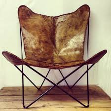 Vintage Butterfly Chair With Leathers Target The Leather