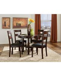 Pendwood Collection 10022 5 Piece Dining Room Set With Table And 4 Chairs In Dark
