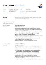 Resume Sample Veterinary Technician