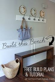 Free Simple Storage Bench Plans by Best 25 Small Bench Ideas On Pinterest Diy Front Porch Ideas