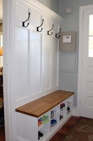 Mud Room Coat Rack and Bench 13 Steps with