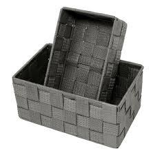 regalkörbchen leer im 2er sparset badezimmer körbchen größen 19x10x7 cm und 20x13x10 cm aufbewahrungskörbe grau