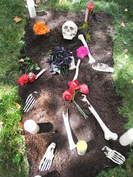 ideas for graveside decorations day of the dead skeleton graveyard easy crafts and garden
