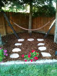 Backyard Hammock In The Corner With Stepping Stones - Hang A ... Outdoor And Patio Corner Backyard Koi Pond Ideas Mixed With Small Garden Designs On A Budget Back Pictures The Backyard Corner Farmhouse Flower Landscaping Simple Best Landscape For Privacy Emerson Design Wood Fireplaces Burning Quotes Latest Fire Pit Area Some Tips In Beautiful Decor Formal Front Australia Modern Zandalus Pergola Amazing Pergola Plans Wooden Brown Fence Fencing Sod Irrigation System
