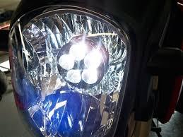 sportbike lites honda grom led headlight bulb conversion kit with