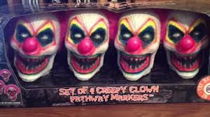 Halloween Pathway Lights Stakes by Spirit Halloween Creepy Clown Pathway Markers Youtube