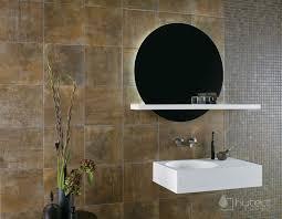 badezimmer ideen fliesen mit coolem rost effekt runde