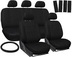 100 Ram Truck Seat Covers For Dodge Solid Black W Steering WheelBelt